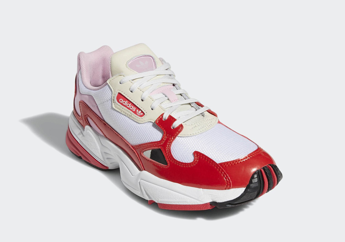 quality design 94026 eff4e adidas Falcon Release Date February 1st, 2019 100. Color Crystal WhiteActive  RedShock Red Style Code EE3830