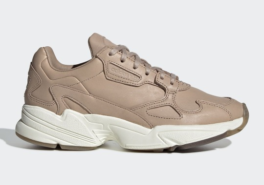 323cf82b639 The adidas Falcon Gets Dressed Up In Tan Leathers
