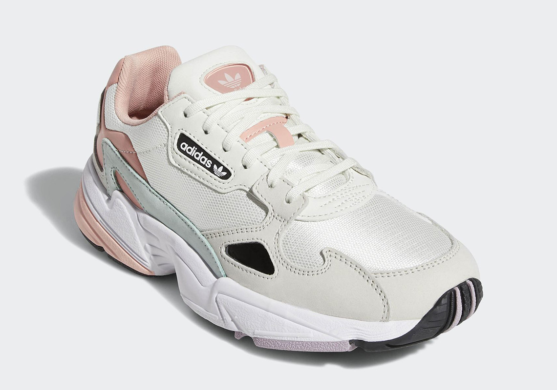 finest selection b0bd3 54eeb adidas Falcon Release Date February 1st, 2019 100. Color Running WhiteRaw  WhiteTrace Pink Style Code EE4149