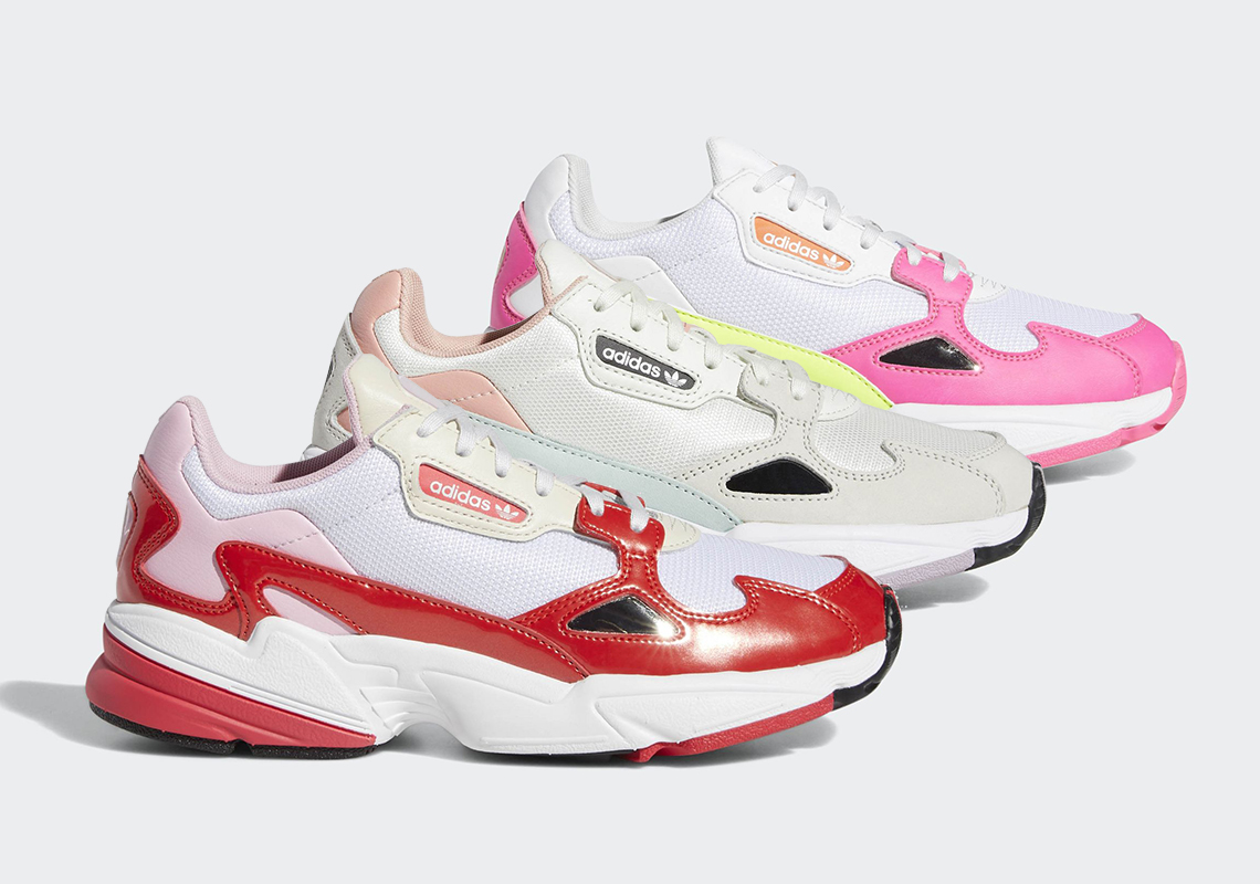 low priced 60c6f e0e33 The adidas Falcon Returns In Three Pink Options