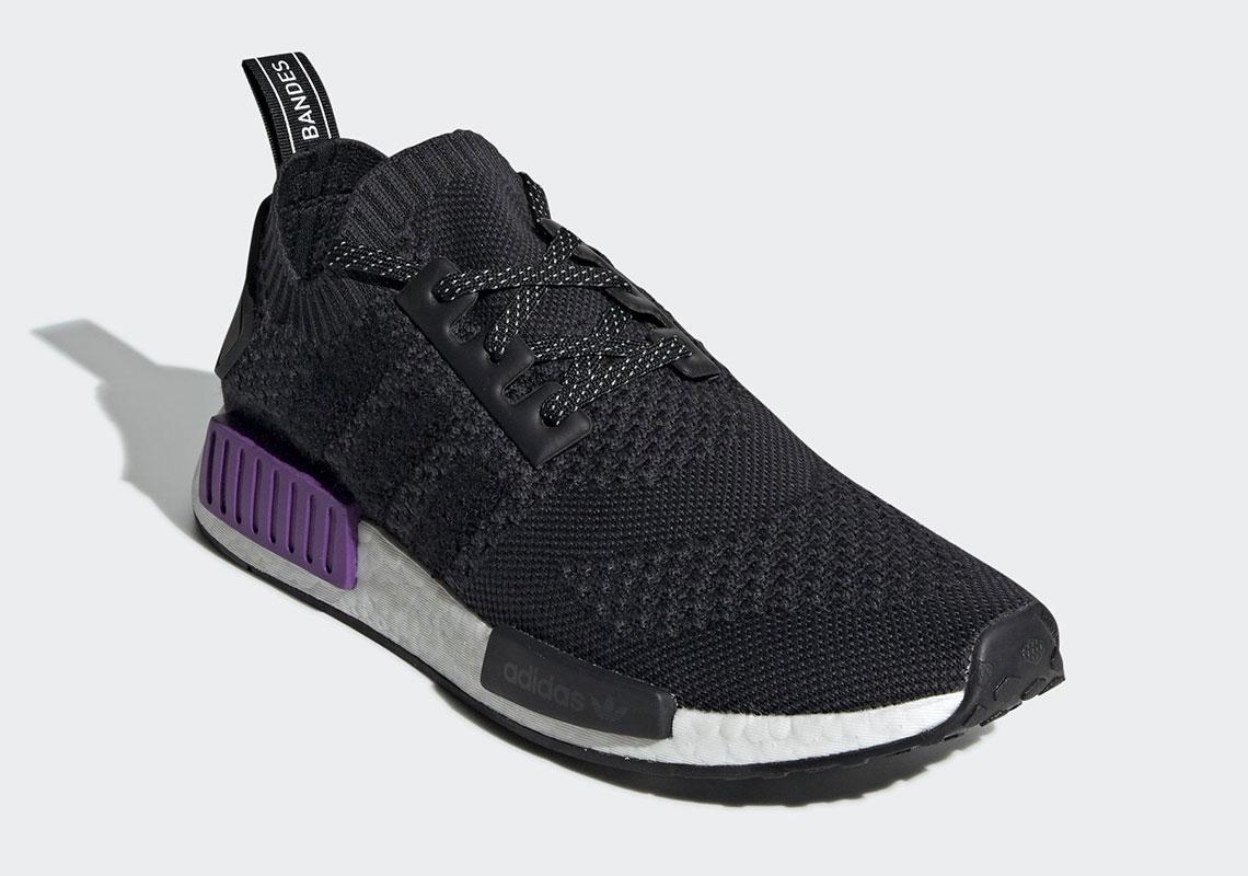 cb206de8d adidas NMD R1  110. Color  Core Black Core Black Purple Style Code  G54635