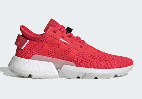 """The adidas POD s3.1 """"Shock Red"""" Utilizes A Retro-Themed Knit Pattern"""