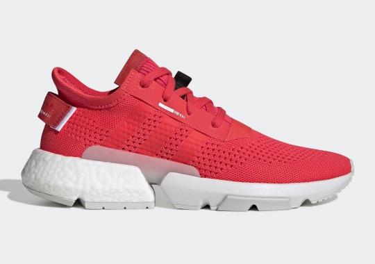 "The adidas POD s3.1 ""Shock Red"" Utilizes A Retro-Themed Knit Pattern"
