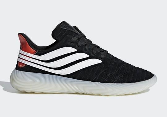 The adidas Sobakov Revealed In Black And Clear Orange