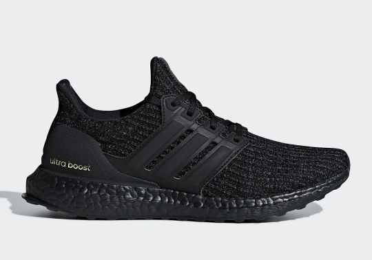 "adidas Ultra Boost 4.0 ""Triple Black"" Arrives With Gold Accents"