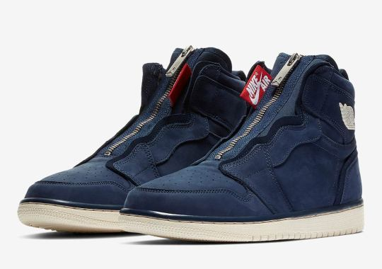 The Air Jordan 1 High Zip For Women Is Here In Navy Suede