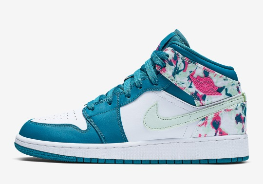 The Air Jordan 1 Mid Adds Paint Stroke Details