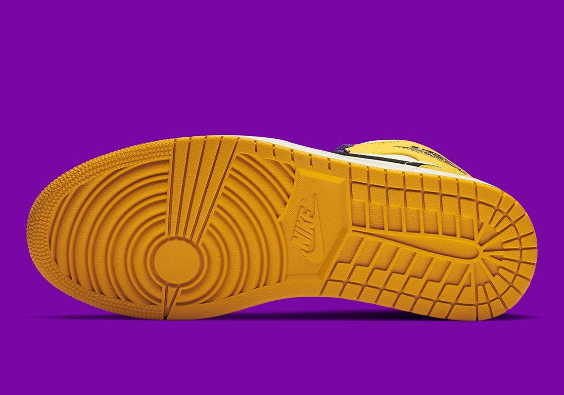 1f66521674b3b5 Jordan 1 Mid Lakers 852542-700 Release Info