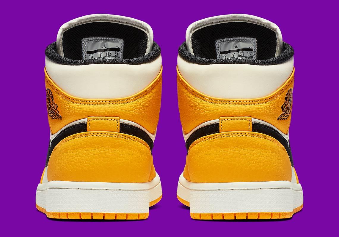 b864ec85cd96 Jordan 1 Mid Lakers 852542-700 Release Info