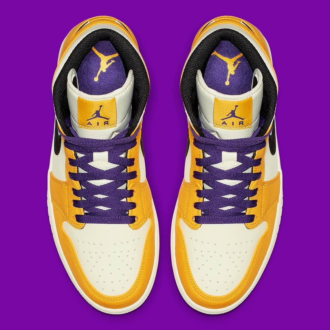 b6735425efd Jordan 1 Mid Lakers 852542-700 Release Info | SneakerNews.com
