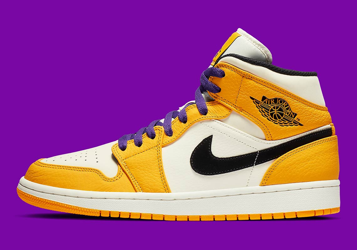 "promo code 5ae17 3bd97 Air Jordan 1 Mid ""Lakers"" Coming Soon"