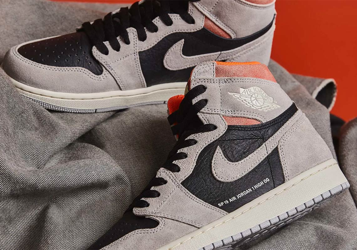 big sale 32d58 6f915 Jordan 1 Grey Black Crimson 555088-018 Store List   SneakerNews.com