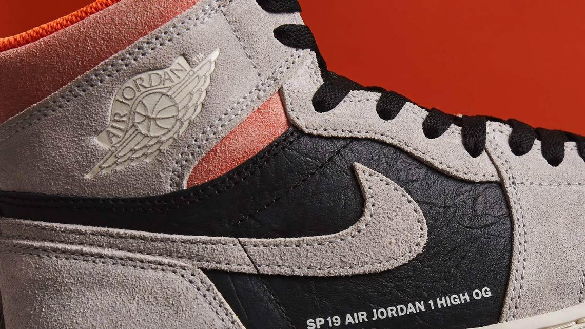 cb7872e3282 Jordan 1 Grey Black Crimson 555088-018 Store List