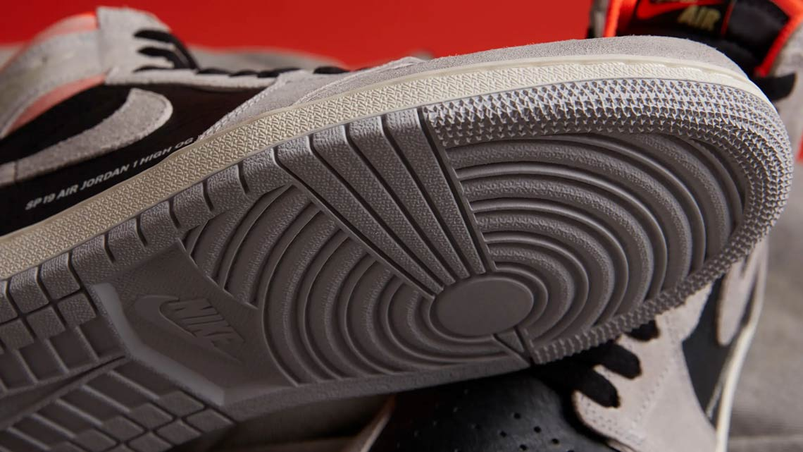 big sale a38a4 67c77 Jordan 1 Grey Black Crimson 555088-018 Store List   SneakerNews.com