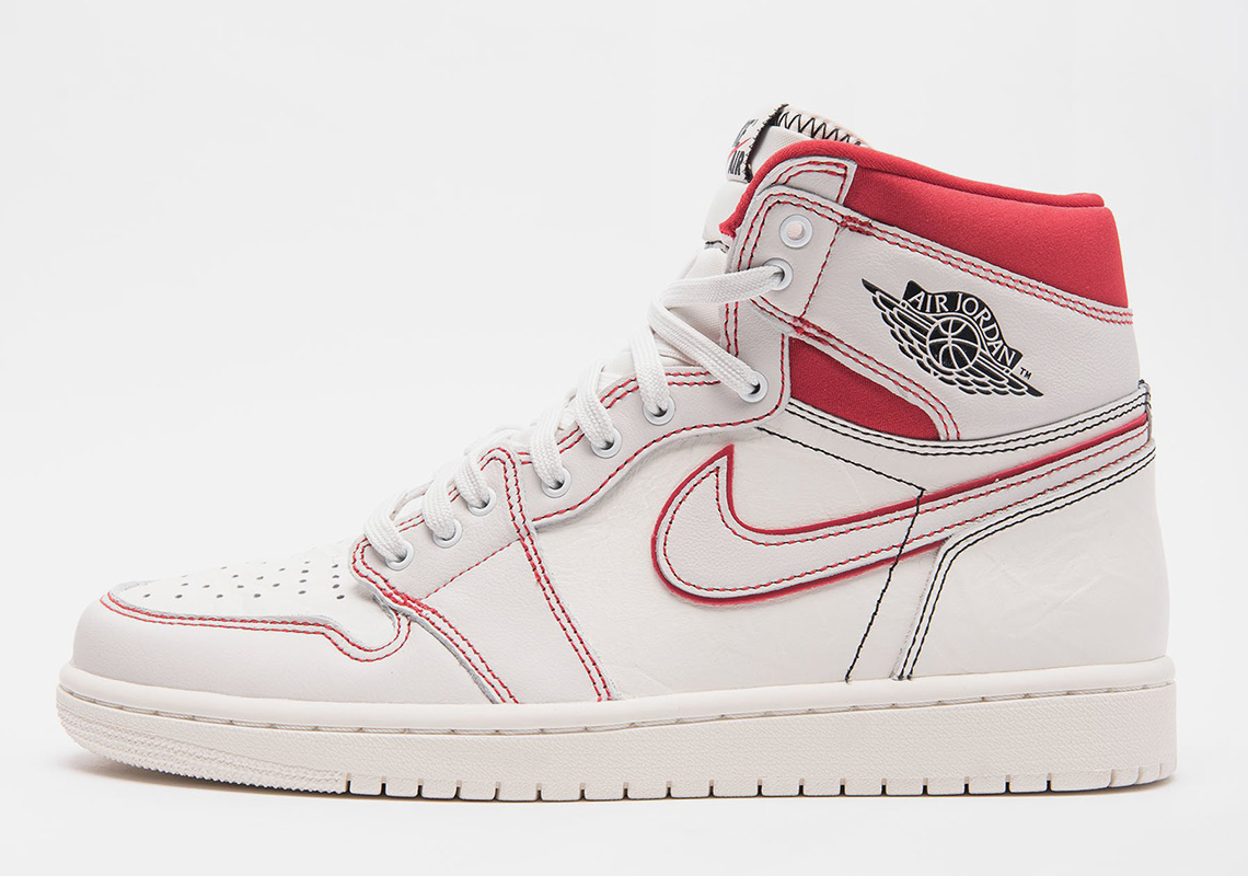 13800a33e Air Jordan 1 Sail +Phantom + Black+ University Red 555088-160 ...