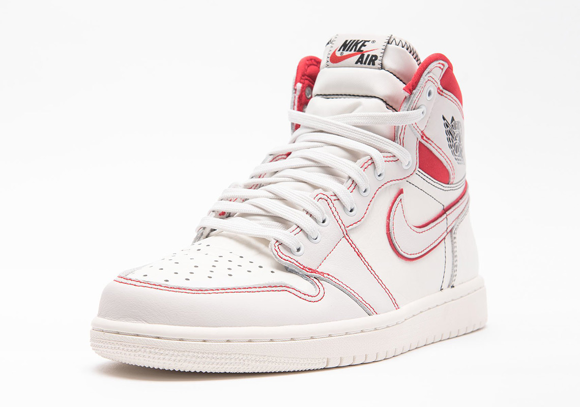 shop best sellers picked up official supplier Air Jordan 1 Sail +Phantom + Black+ University Red 555088 ...