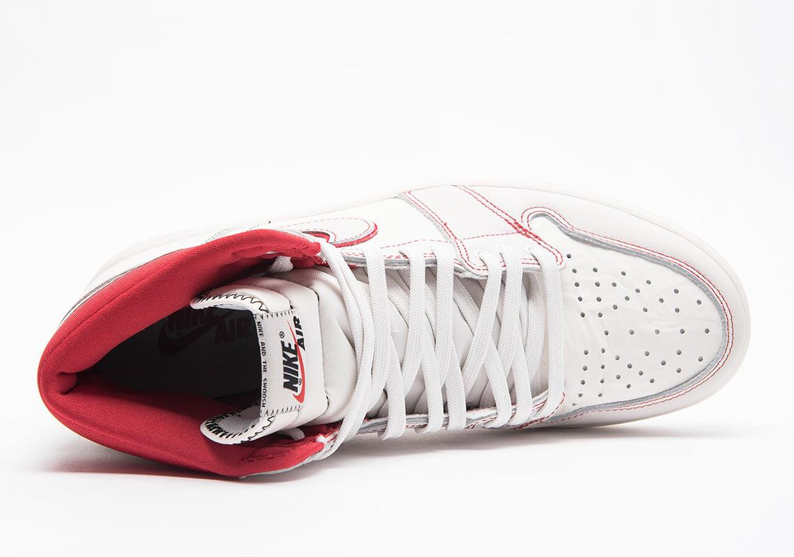 quality design 878a7 f0abc Air Jordan 1 Sail +Phantom + Black+ University Red 555088-160 ...