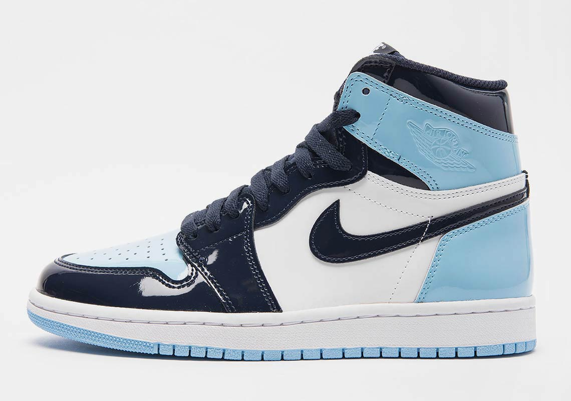 best service b46e8 0aaa7 Air Jordan 1 UNC Blue Patent Leather Release Dates   SneakerNews.com