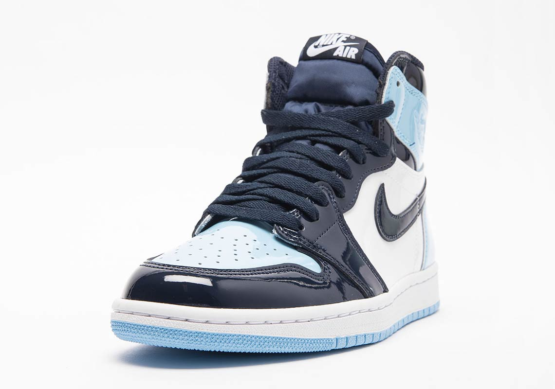 02b464e76ff265 Air Jordan 1 UNC Blue Patent Leather Release Dates