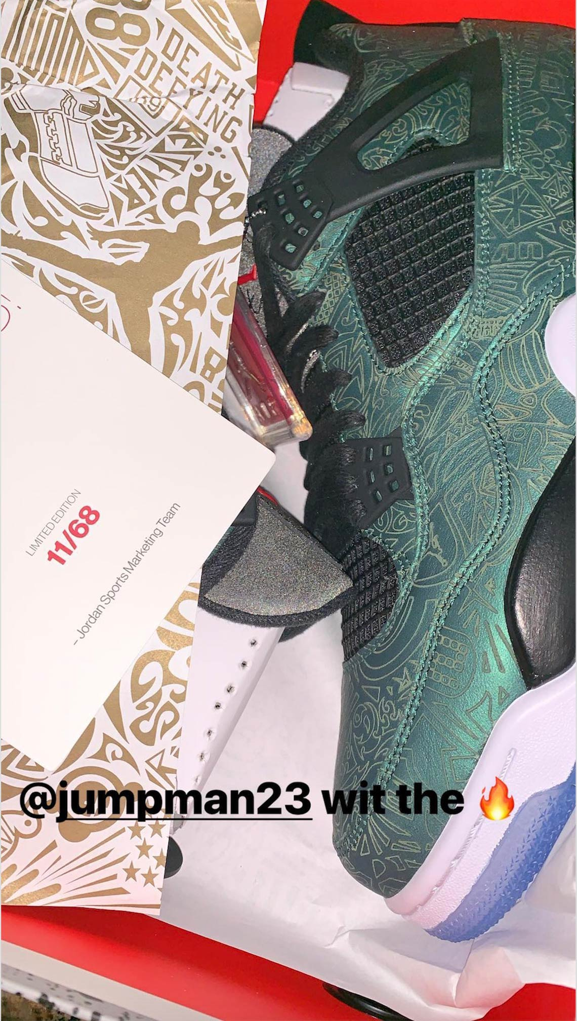 san francisco db7b5 d564e Air Jordan 4 Laser Green First Look + Info | SneakerNews.com