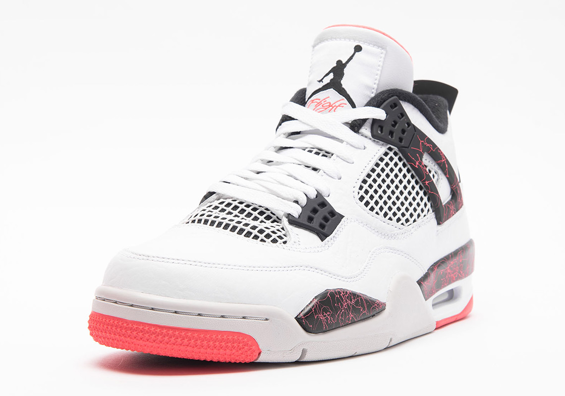 Air Jordan 4 Retro White Black Bright Crimson Pale Citron 308497-116 ... 7fe2e08cde59