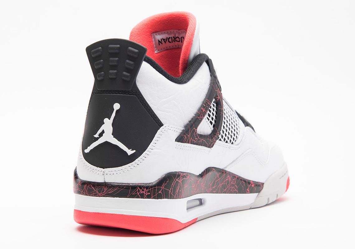 542d23169b2e Air Jordan 4 Retro White Black Bright Crimson Pale Citron 308497-116 ...