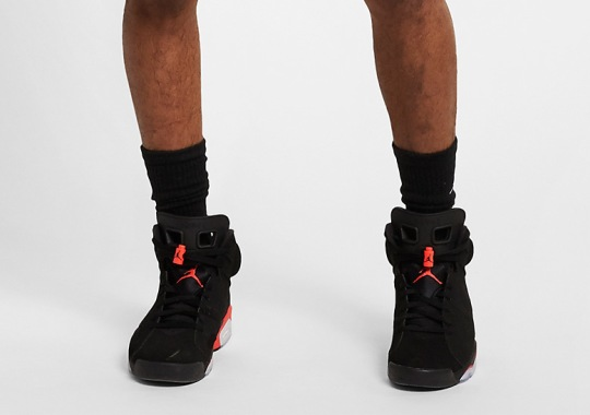 "On-Foot Look At The Air Jordan 6 ""Infrared"" Revealed"
