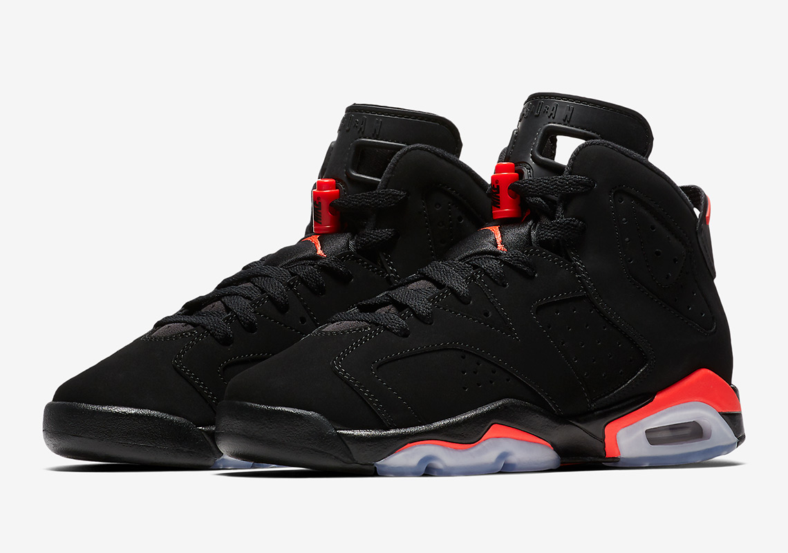 "7db9fbd102e94 Official Images Of The Air Jordan 6 ""Infrared"" 2019 For Grade School"
