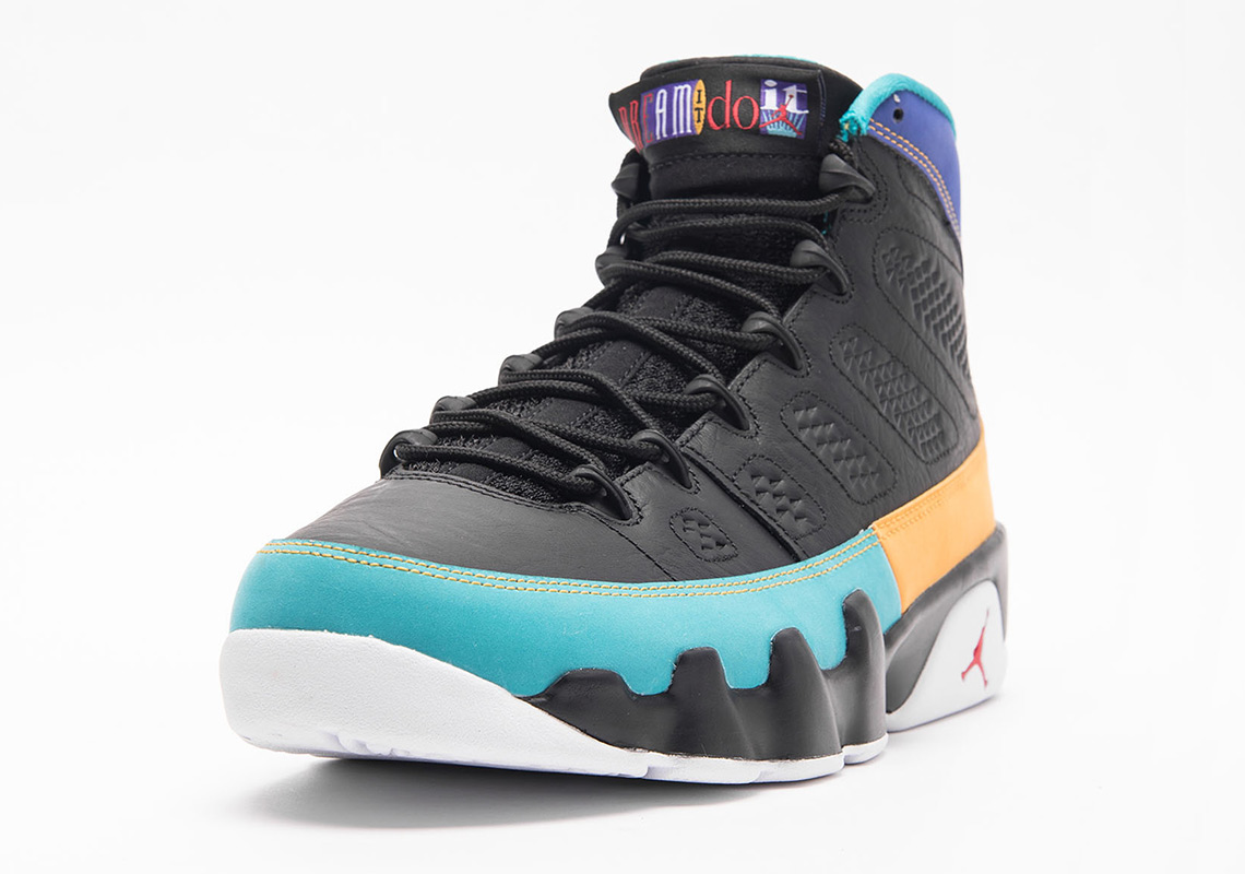 purchase cheap f73db 19cb2 Air Jordan 9 Retro Air Jordan 9 Dream It Do It Store List Release Date   March 9th, 2019  190. Color  Black University Red-Dark Concord Style Code   302370- ...