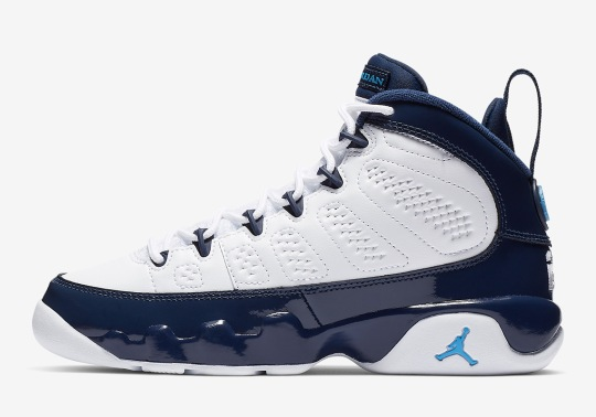 "The Air Jordan 9 ""UNC"" Is Releasing In Kids Sizes On February 9th"