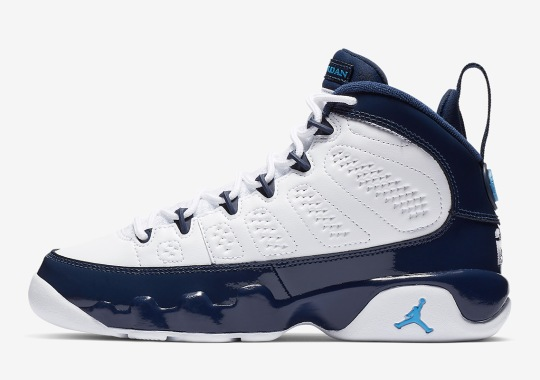 "best sneakers 935fb e1b41 The Air Jordan 9 ""UNC"" Is Releasing In Kids Sizes On February 9th"