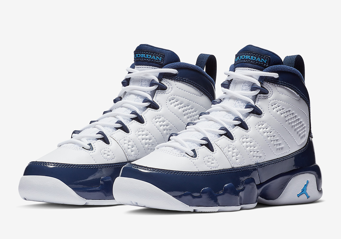 new style dd228 8f86f Air Jordan 9 UNC Kids Release Info | SneakerNews.com