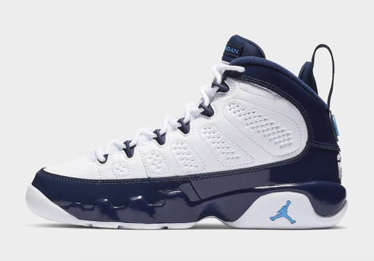 "Air Jordan 9 ""UNC"" Revives Classic ""Pearl Blue"" Colorway From 2002"