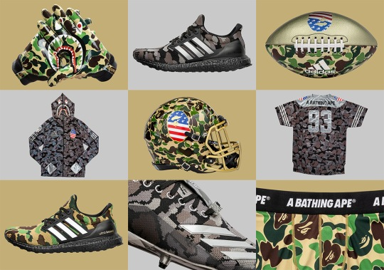 Here's When And Where You Can Buy The BAPE x adidas Superbowl Collection