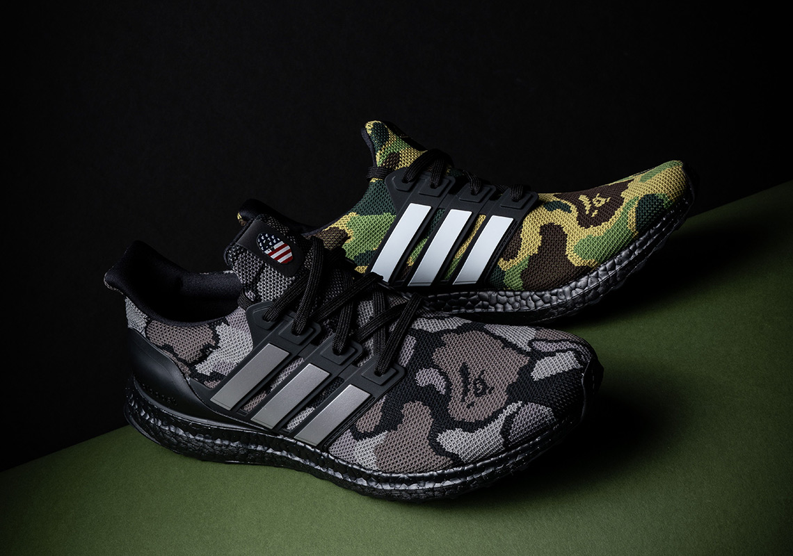 The BAPE x adidas Ultra Boost Collection Is Releasing