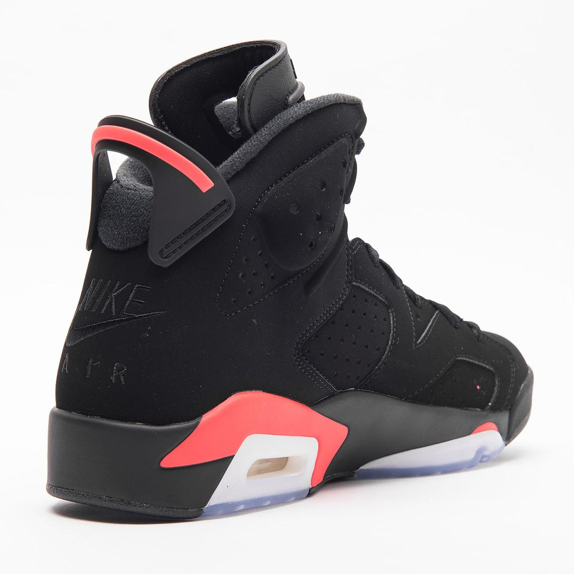 0a04bd7045c Air Jordan 6 Retro Black Infrared 384664-060 Release Date ...