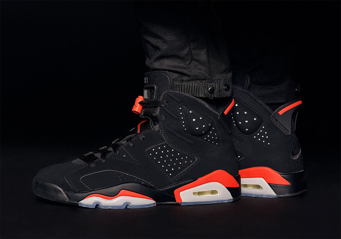 "a0741734af9f4d The Air Jordan 6 ""Infrared"" And Matching Apparel Is Releasing Early At KITH"