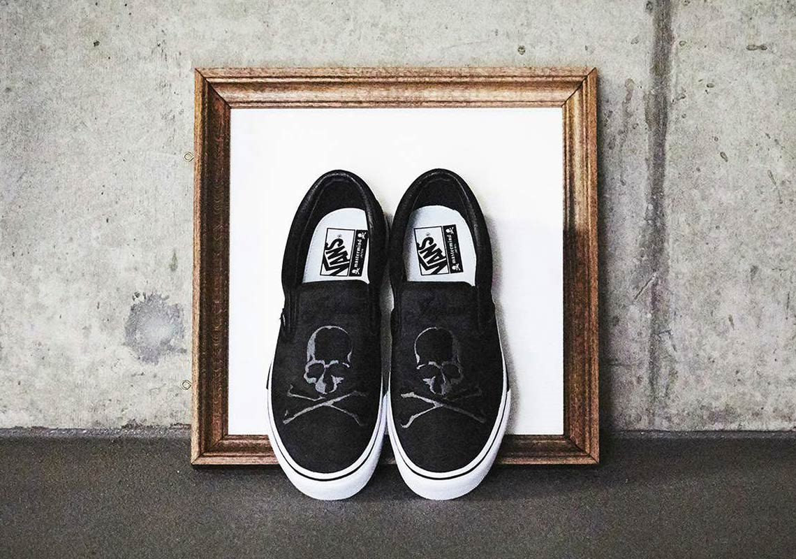 988bb3f7a3 mastermind Japan x Vans Slip-On Release Date  January 11