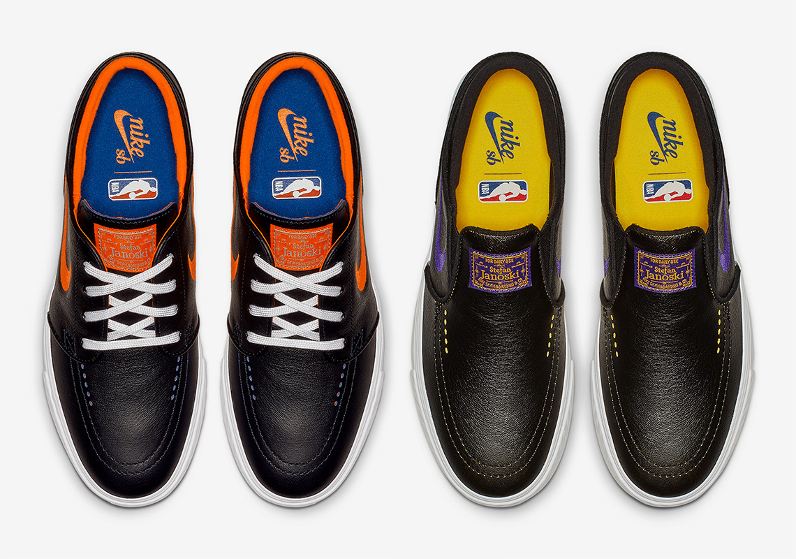 get cheap c45fa 899b1 The NBAs Nike SB Collection Continues With Janoskis For The Knicks And  Lakers
