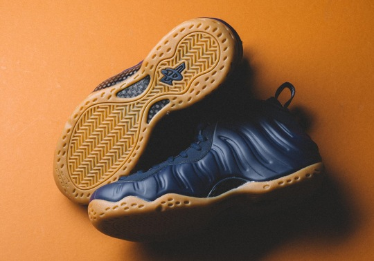 The Nike Air Foamposite One Combines Midnight Navy And Gum