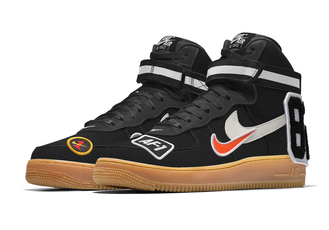 new products 189f2 3ab55 Nike Air Force 1 High Premium iD  130. Advertisement