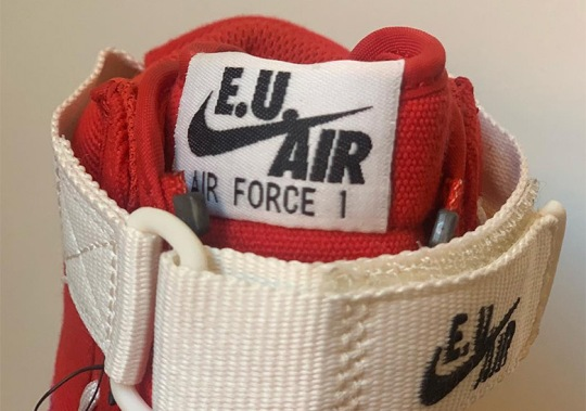 "Nike Air Force 1 High ""Valentines Day"" Features Unique Zipper Construction"