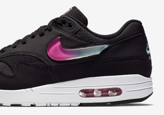 The Nike Air Max 1 SE With Jelly Swoosh Logos Is Available In Black