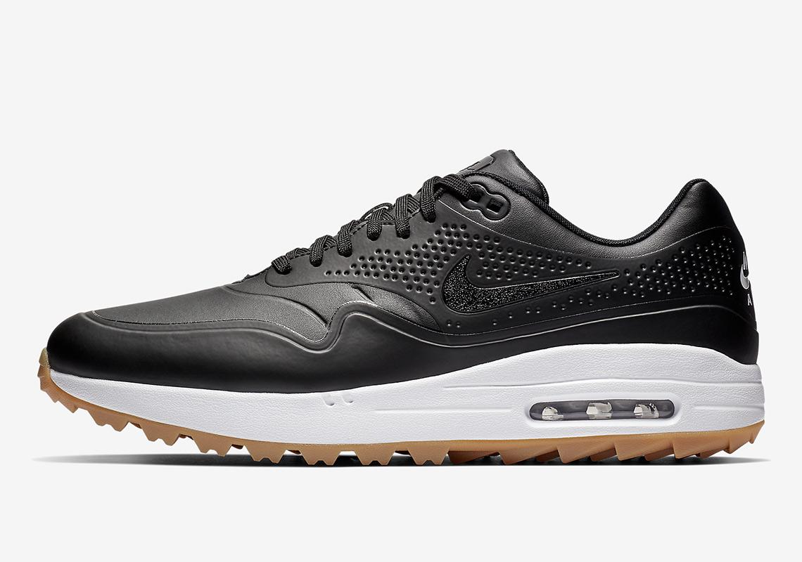 new style 58878 46f13 Nike Air Max 1 Golf  120. Color Black White-Gum Medium Brown