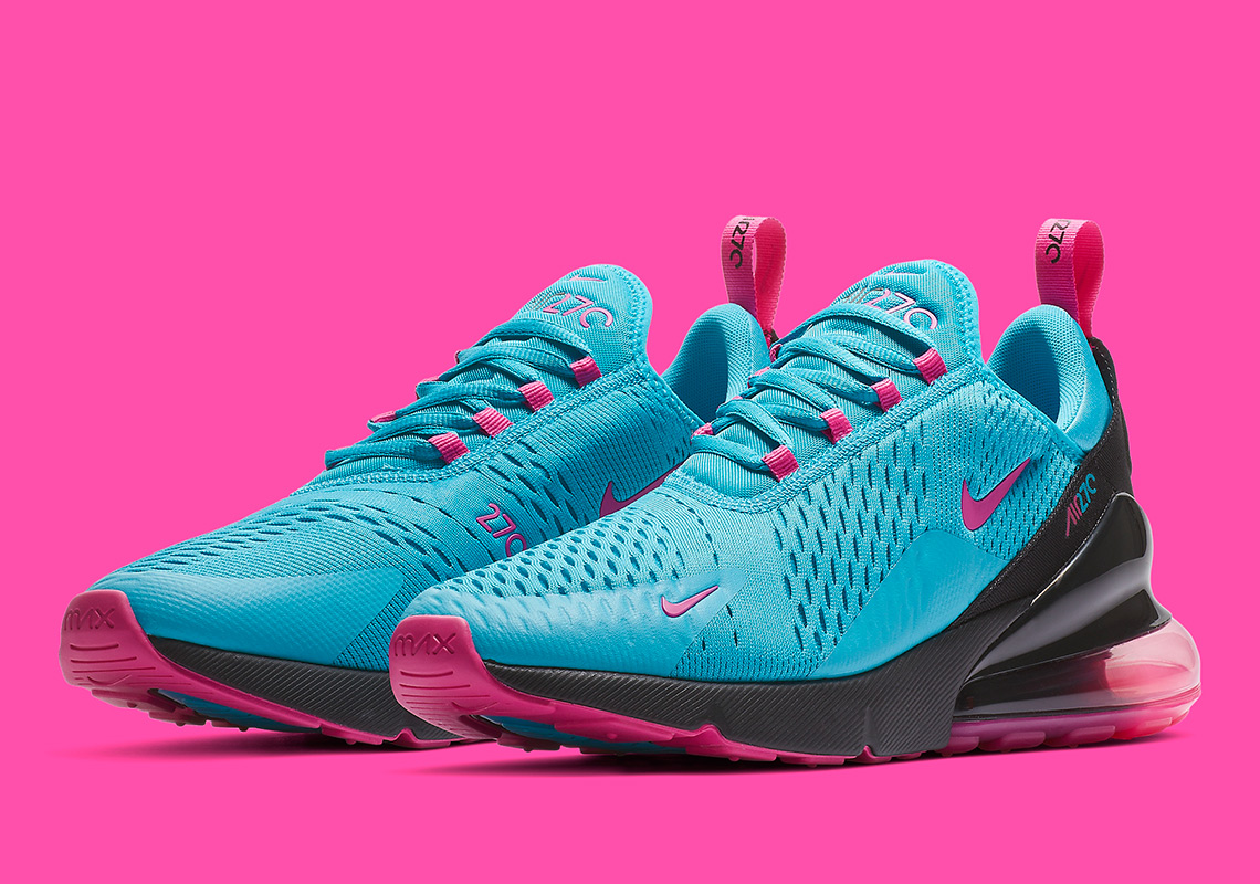 air max 270 blue and pink