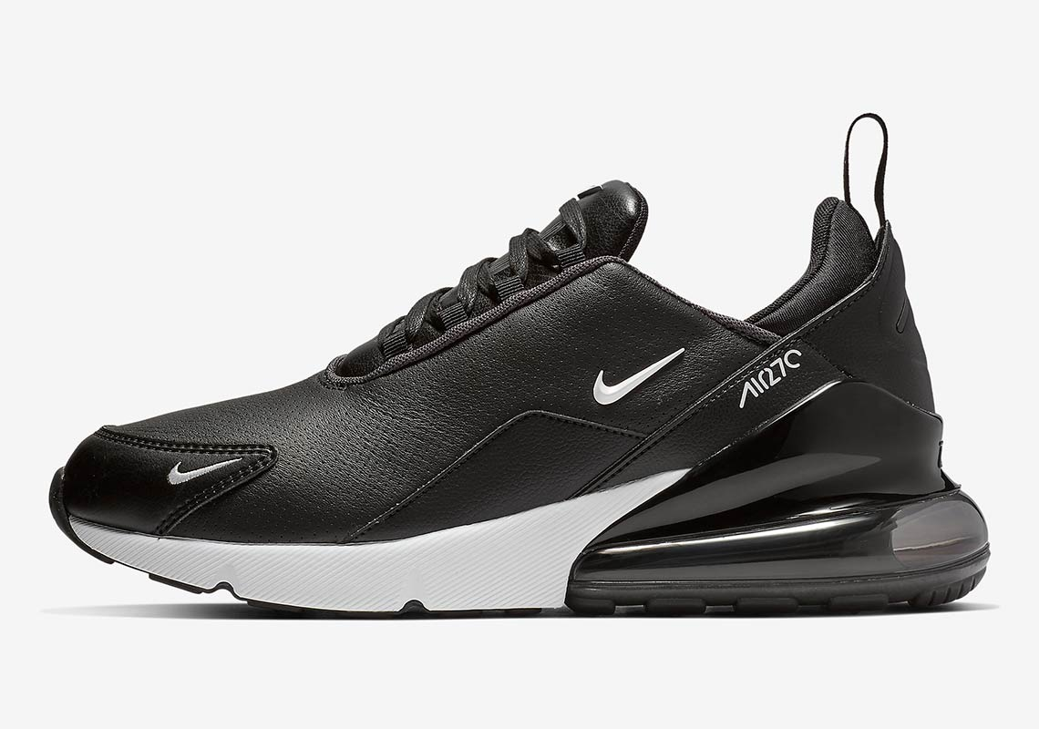 232f4ac525 Nike Air Max 270 With Leather Uppers Is Arriving In Black And White