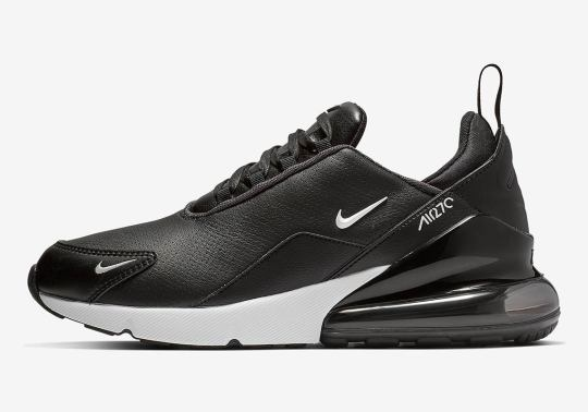 Nike Air Max 270 With Leather Uppers Is Arriving In Black And White