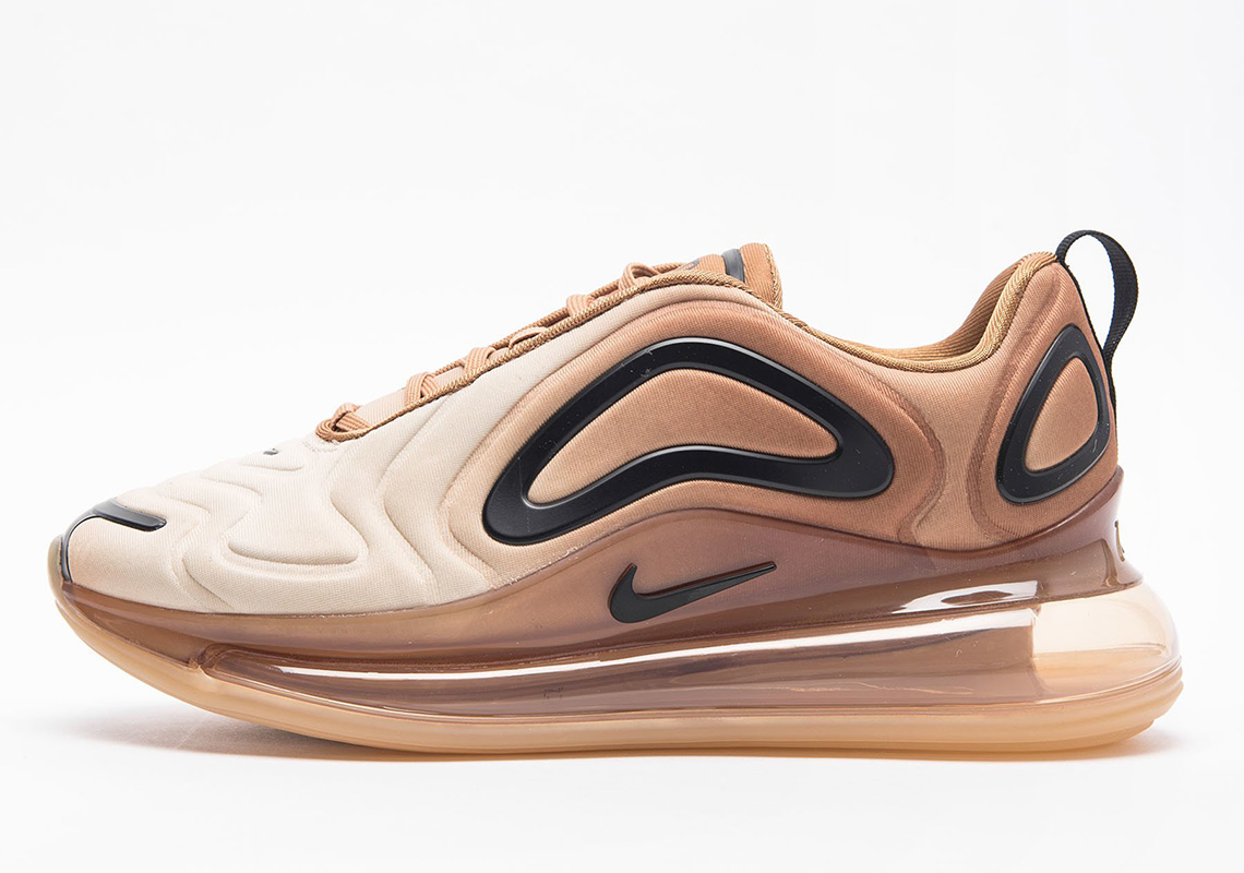 "best service 7b80f 03e7a Nike Air Max 720 ""Desert"" Release Date  February 28th, 2019  180. Color   Wheat Black-Club Gold-Desert Ore Style Code  AR9293-700"