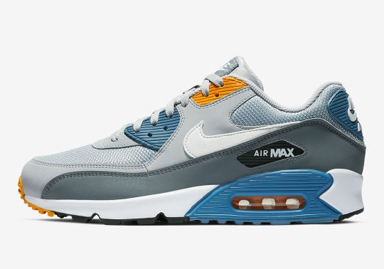 This Nike Air Max 90 Boasts Crisp Colorblocking Of Blue And Yellow