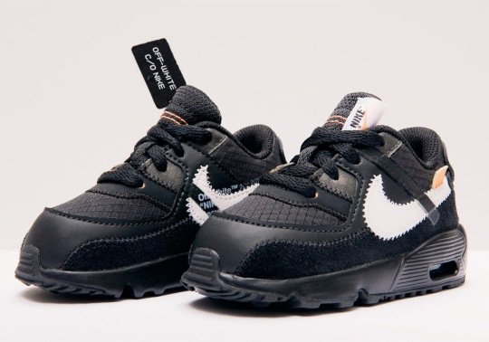The Off-White x Nike Air Max 90 Is Releasing In Little Kids/Toddlers Sizes